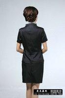 custom-made black Ladies sz 18 black  2-Pc Wool Skirt  Stripe Jacket Suit Blaze  Business Suit SKIRT SUIT NWT 6 M...$560 RETAIL!