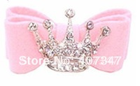 MOQ 50pcs Crown Rhinestones hairclip,pet barrettes pet hairclip