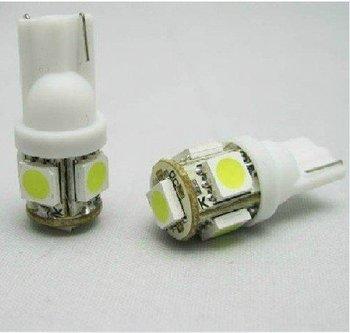 wholesale Free shipping 100pcs/lot T10 W5W 194 5 SMD LED White Car Side Light Bulb Lamp