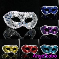 Free Shipping!Venice mask,Lace Sexy Mask.Masquerade Party Mask Pure Color Mask,Half Face Mask.Nine Colors Available Cmk023