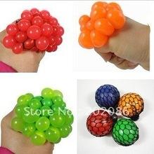 Factory wholesale neon mesh squish ball hotsale grape stress ball squeeze grape ball 48pcs/lot fast delivery free shipping(China (Mainland))