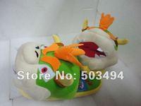 "Free Shipping EMS Super Mario Plush slipper Adult Bowser Plush Slippers 11"" 40/LOT"