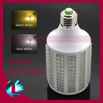 Free shipping / 20W 1650LM 330-LED Corn light bulb E27 360-degree led lighing Daylight lamp warm cold white 220V 110V