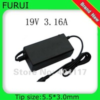 1pcs Free shipping  60W 5.5*3.0mm POWER AC ADAPTER LAPTOP CHARGER FOR SAMSUNG NP-QX411 QX411 RV510 RV511 19V 3.16A