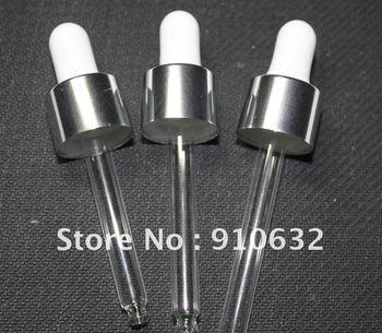 50pcs Wholesale 15ml-30ml electric aluminum cap, silicon/glass dropper for essential oil bottle ,essential oil bottle parts