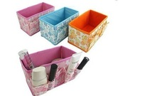Free shipping ! Non-woven make up tools of cosmetic storage box desktop