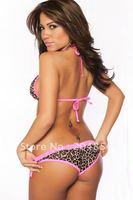 free shipping sexy leopard bikini bikini ladies' beachwear fashion bikini swimsuit free size