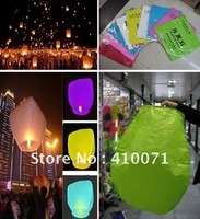 New 5pcs Mixed Color UFO Sky Wishing Lantern Chinese Lantern Birthday Wedding Christmas Party Lamp ,FREE SHIPPING