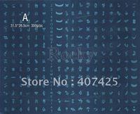 Wholesale -  LARGE Konad Image Plate Nail Art BIG Stamp Stamping Template DIY #A+#B * FREE SHIPPING *