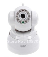 Free Shipping dropshipping EasyN Webcam CCTV Camera 2-Audio Nightvision WIFI Wireless IP Camera black / white with color box