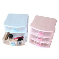 Wholesale! Plastic 4-layer Storage Drawer box with bow drawer handle, plastic drawer, new arrival and good quality