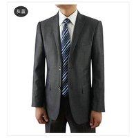 shiny Gray 2 Btn Wool Mens Suit 42R 42 Regular Pants 100% Wool FREE FAST SHIP HEM-UP & TIE