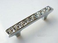 20 pcs64 mm  Modern crystal handle wardrobe metal handle drawer pulls free shipping