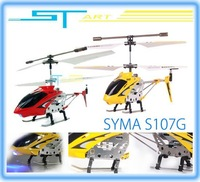 18PCS - Wholesale - Hot Sale - Syma S107G Metal Gyro 3ch Mini Micro RTF RC Helicopter With flashlight & USB Charger S107