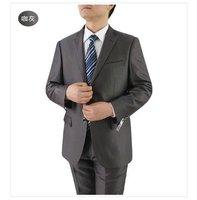 Mens Mid Grey Tonic Shiny Suit 2 Tone Slim Fit Business Weddings & Proms 36 Reg 100% Wool FREE FAST SHIP HEM-UP & TIE