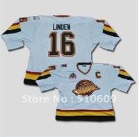 Wholesale #16 TREVOR LINDEN   hockey JERSEY CCM VINTAGE WHITE 1994 Mix order