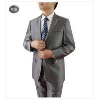 Mens Modern Two Button All Season Wool Blazer Suit Coat Jacket 40L gray 100% Wool FREE FAST SHIP HEM-UP & TIE