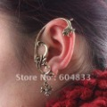 2012 New Design Spend Cane Cuff Earrings 2Colors Available Free Shipping High quality Ear Cuff Chain Alloy Earrings