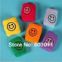 Wholesale Smiley Wristband fashion sports wristband Sweatband wrist protector 204pcs/lot fast delivery free shipping