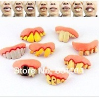 Wholesale 50pcs/lot Halloween bucktooth toy Party bucktooth Goofy teeth Vampire teeth fast delivery free shipping
