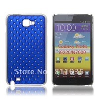 DHL FREE SHIPPING ,starry case for Samsung galaxy note i9220 N7000 with rhinestone inlaid,wholesale price,50pcs/lot