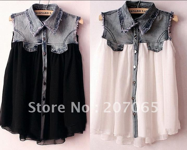 Womens Cowboy Blouses With Sequence 105