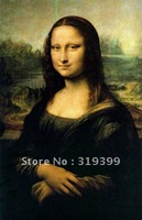 Linen Canvas Oil Painting Reproduction,Mona Lisa By Leonardo Da Vinci reproduction,Fast Free Shipping, 100% Handmade