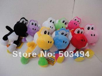 "Free shipping EMS 9 colors Super Mario Plush Yoshi Plush Doll Anime 8"" Cos Figure"