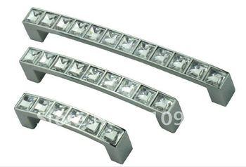 30 Pcs 96mm  Door Pull Diamond white Cabinet Handle DIY Dawer Handle Kitchen Alumina  Diamond white Zinc Alloy