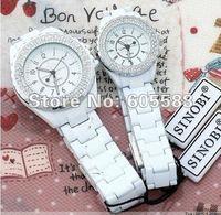 DHL Free shipping 100% Genuine, Brand New Sinobi Watch with Japan quartz movement crystal stone bracelets wrist  Lover watch