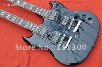 2011 Wholesale Double guitar slash black mahogany board free shipping