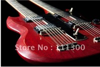 Custom Shop Double Neck,  Dark Cherry Electric Guitar In Red