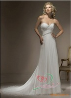 2012 NEW custom made romatic paris wedding dress evening dress porm dress satin dress color white   freeshipping