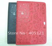 free shipping  Leather Case for Samsung Galaxy Tablet 10.1  7510 Black .red , wholesale