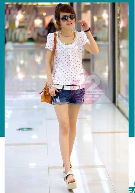 NEW New Spring Summer Women Denim Shorts Korean Style High