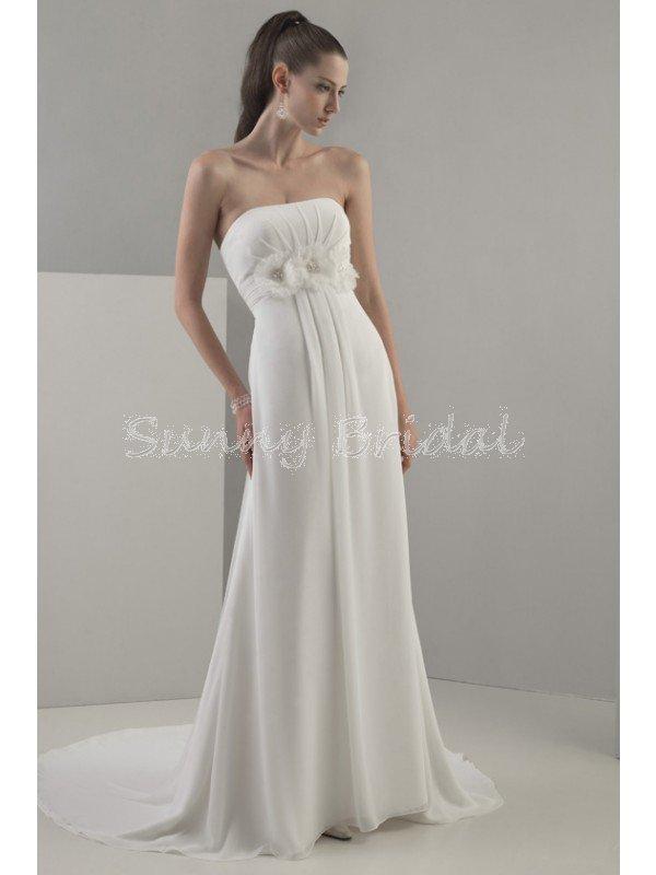 chiffon strapless wedding dresses 芦 Bella Forte Glass Studio