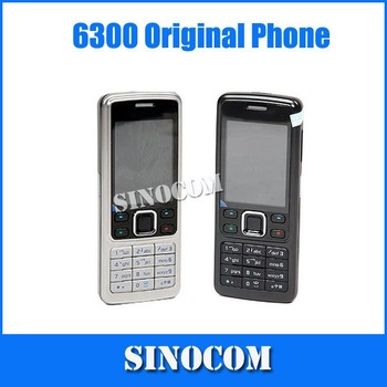 Original Phone 6300 Unlocked Phone Triband Bluetoth Email FM Radio Mp3 player Free shipping