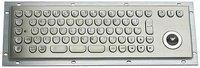 IP65 vandal proof stainless steel  industrial keyboard with trackball(X-BP712B)