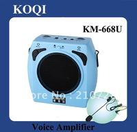 DHL Free Shipping 15W Fashion Mini powerful amplifier With USB Slot  (KM-668U)