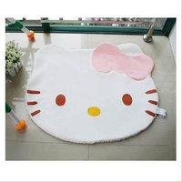 2ps/lot Hello kitty mats doormat rug bedroom home furnishing circular cartoon mat tatami mats free shipping