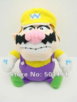 "Free Shipping EMS 50PCS/LOT Super Mario Bros WARIO 9"" Plush Doll Soft Toy Super wario plush toy sitting wario plush"