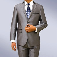 "gray  Morning Suit with striped trousers 50"" chest waist 44"" Stunning suit 100% Wool FREE FAST SHIP HEM-UP & TIE"