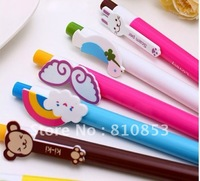 Free shipping New Creative colorful Cartoon Animals wings pen/Korean Style Ball Pen  20pcs /lot, Christmas gift,wholesale