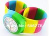 7 colored silicone watch,2013 Rainbow jelly watch for gift, cartoon watch for children free shipping