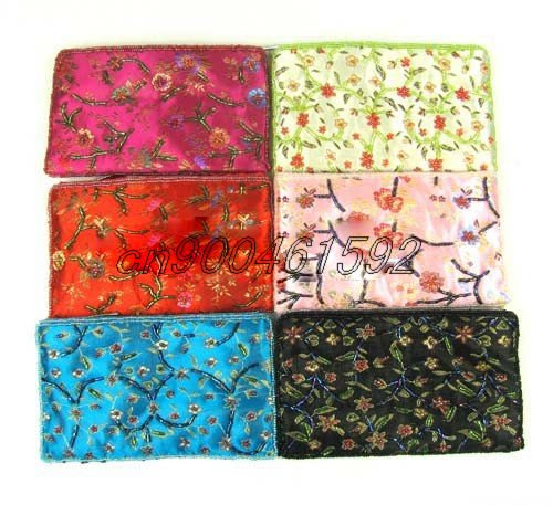 Free shipping! Lot of 60 pcs Hand Embroidery tessellation a string of beads coin purse Bag History: Feedback .(China (Mainland))