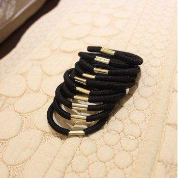 100/lot / Black High quality elastic ties Ponytail Holders Scrunchies Hair Ponies bands Hair accessories