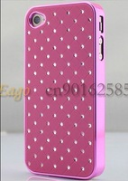 New Luxury Diamond Glitter Sparkling Leather Diamond Star Skin Case Cover Shell for iPhone 4 4S
