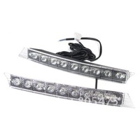 9LED 12V Universal Car Daytime Running Light DRL Indicator Fog Lamp light 2375