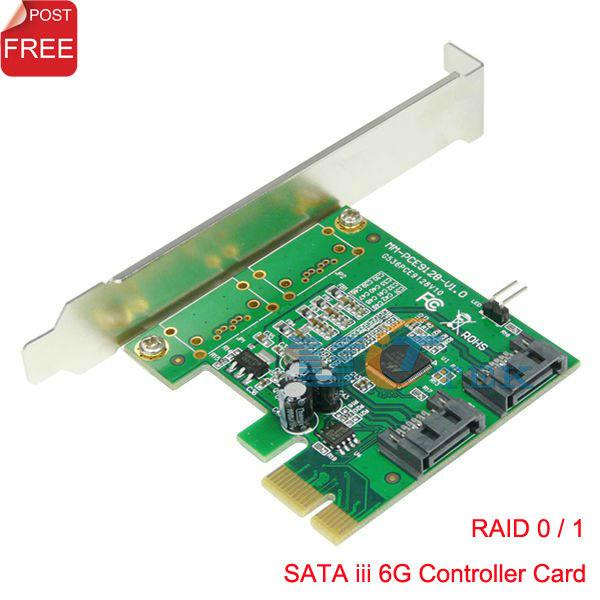 PCI-E PCI Express для SATA3 Serial ATA III 6 Гбит / с RAID 0 +1 контроллер