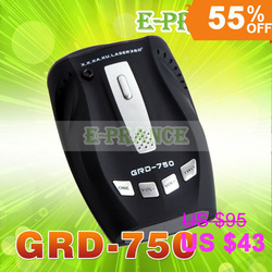 English voice GRD-750 Radar Detector with X K new K Ku Ka new Ka 6/8F VG --2 360 Laser band high sensitive Free Ship(China (Mainland))